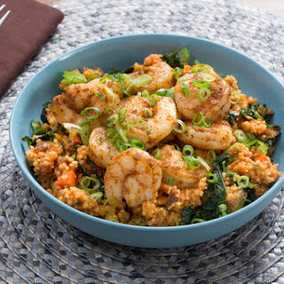 North African-Spiced Shrimp & Couscous with Dates, Kale & Carrots Recipe