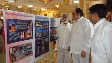Photo: Chandrasekhar explaing the theme and the posters