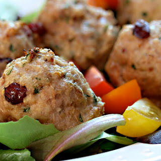 Turkey, Cranberry And Basil Meatballs