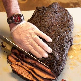Barbecue Beef Brisket Texas Style.