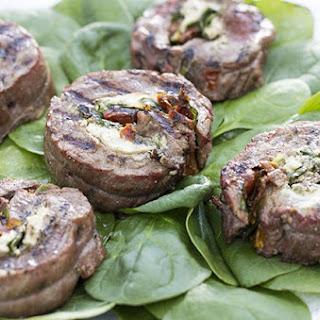 Grilled Italian Flank Steak Pinwheels