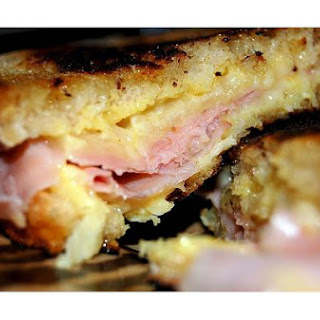 Grilled Ham, Cheese and Roasted Red Pepper Panini