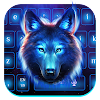 Galaxy Night Wolf Keyboard Theme APK