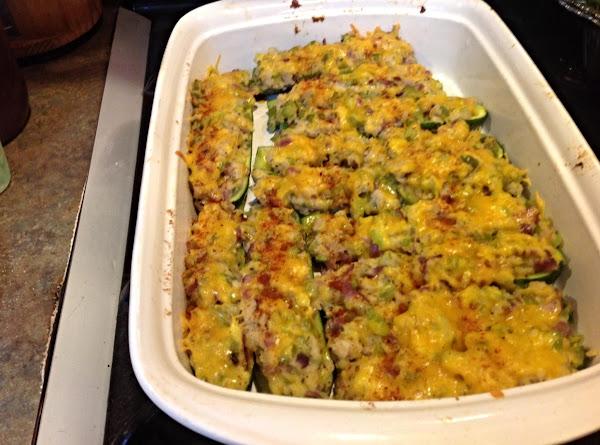 Cheesy Stuffed Zucchini Boats Recipe