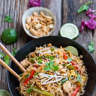 Chicken Pad Thai Noodles.