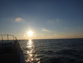 Photo: 日も沈みます。 暑さから解放されます。