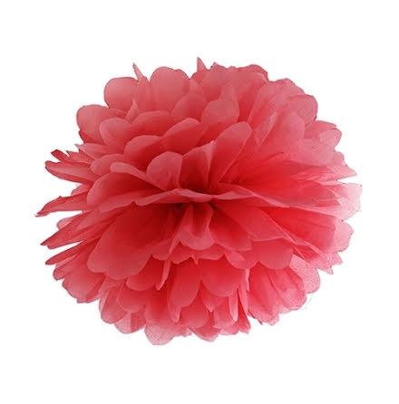 Pom pom - röd 35 cm