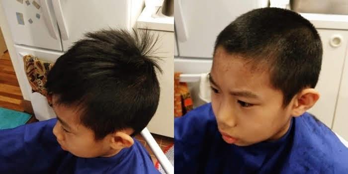 hair cut by dad