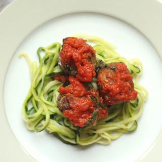 "Melanzane ""Meatballs"" and tomato sauce"