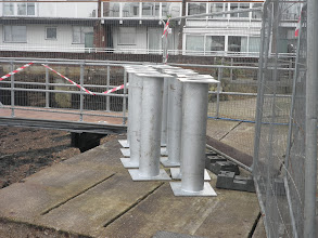 Photo: New capping pieces ready for installation on the cut down piles