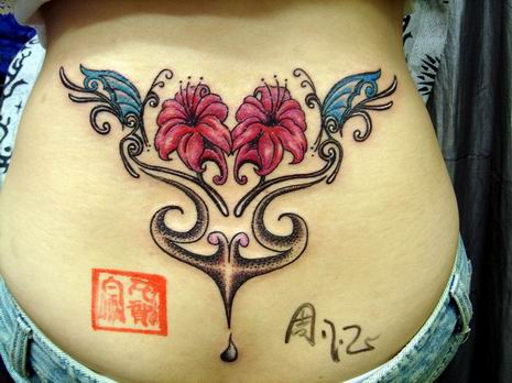 flower tattoo hip. Flower tattoo on Hip