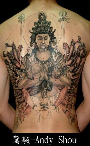 Buddha free tattoo design series.