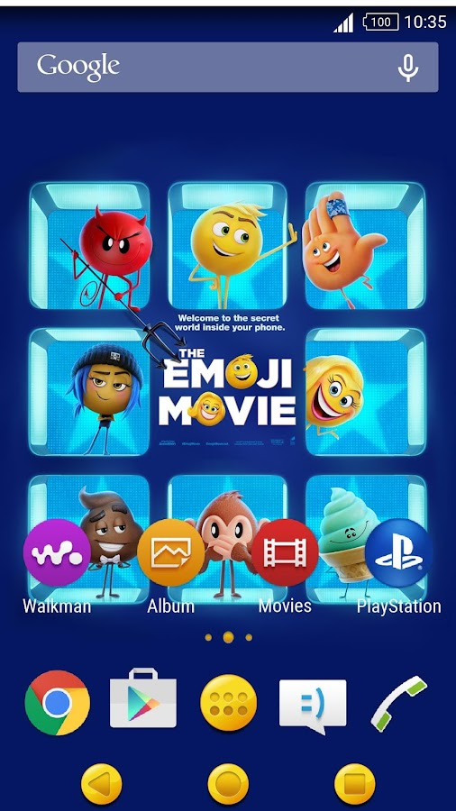 XPERIA™ The Emoji Movie Theme - 螢幕擷取畫面