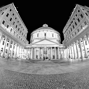 San Carlo's church by Romano Alberto Basso - Black & White Buildings & Architecture ( milan, church, san carlo, italy, downtown,  )