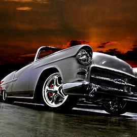 Bel Air V by JEFFREY LORBER - Transportation Automobiles ( car photos, bel air, chevrolet, lorberphoto, rust 'n chrome, 1955 cars, silver car, jeffrey lorber )