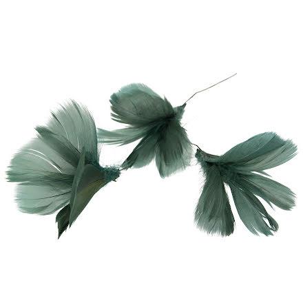 Fjädrar Blom Grönblå 12-pack