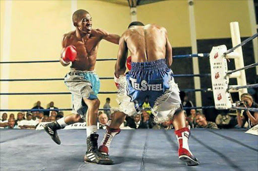 South African boxer Azinga Fuzile in action.