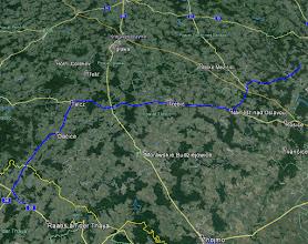 Photo: Poglądowa mapka trasy dnia 12.