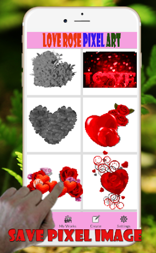 Sweet Love Rose Pixel Art-Coloring By Number ss3