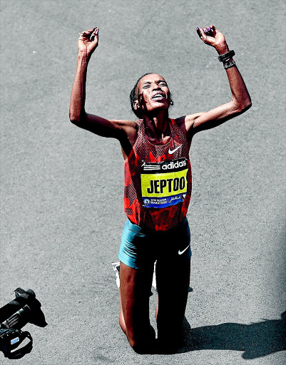 The Court of Arbitration for Sport has doubled a doping ban against Kenyan marathon champion Rita Jeptoo to four years. PHOTO: TIMOTHY A CLARY/AFP