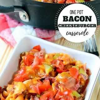 One Pot Bacon Cheeseburger Casserole.