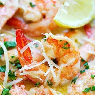 Creamy Garlic Parmesan Shrimp.