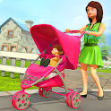 Virtual Happy Family Mother Game: Kids Simulator icon