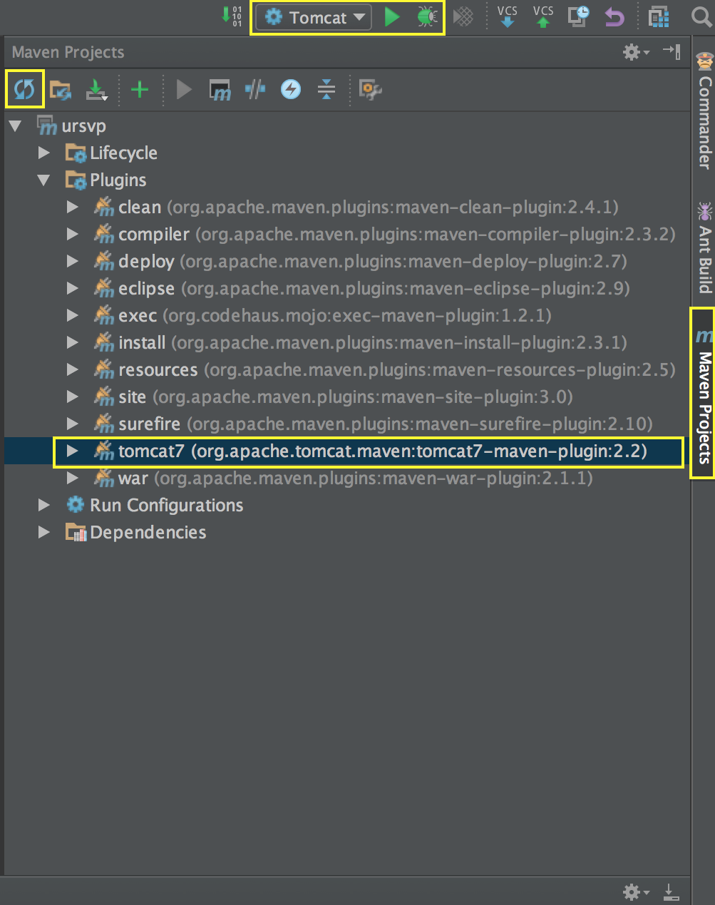Headless Setup of a Java Project with Tomcat, IntelliJ Community