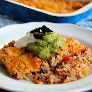 Pork Taco Rice Casserole.