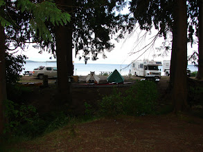 Photo: Campsite at the Willingdon Beach campground in Powell River.