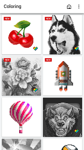 Color by Number - Pixel Art Coloring Book apkpoly screenshots 11