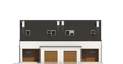 Makolągwa z garażem 1-st. bliźniak A-BL1 - Elewacja przednia