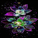 Abstract Magical Flowers LWP icon