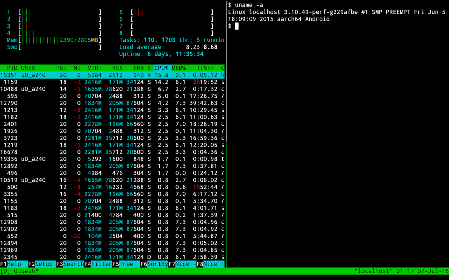 Termux- screenshot
