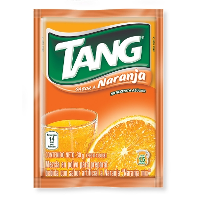 bebida en polvo tang naranja 30gr