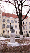 "Photo: Bustul lui Teodor Murasanu  si ""Stejarul Unirii"" - Str. Dr. Ioan Ratiu, Nr.111 - 2017.01.26"