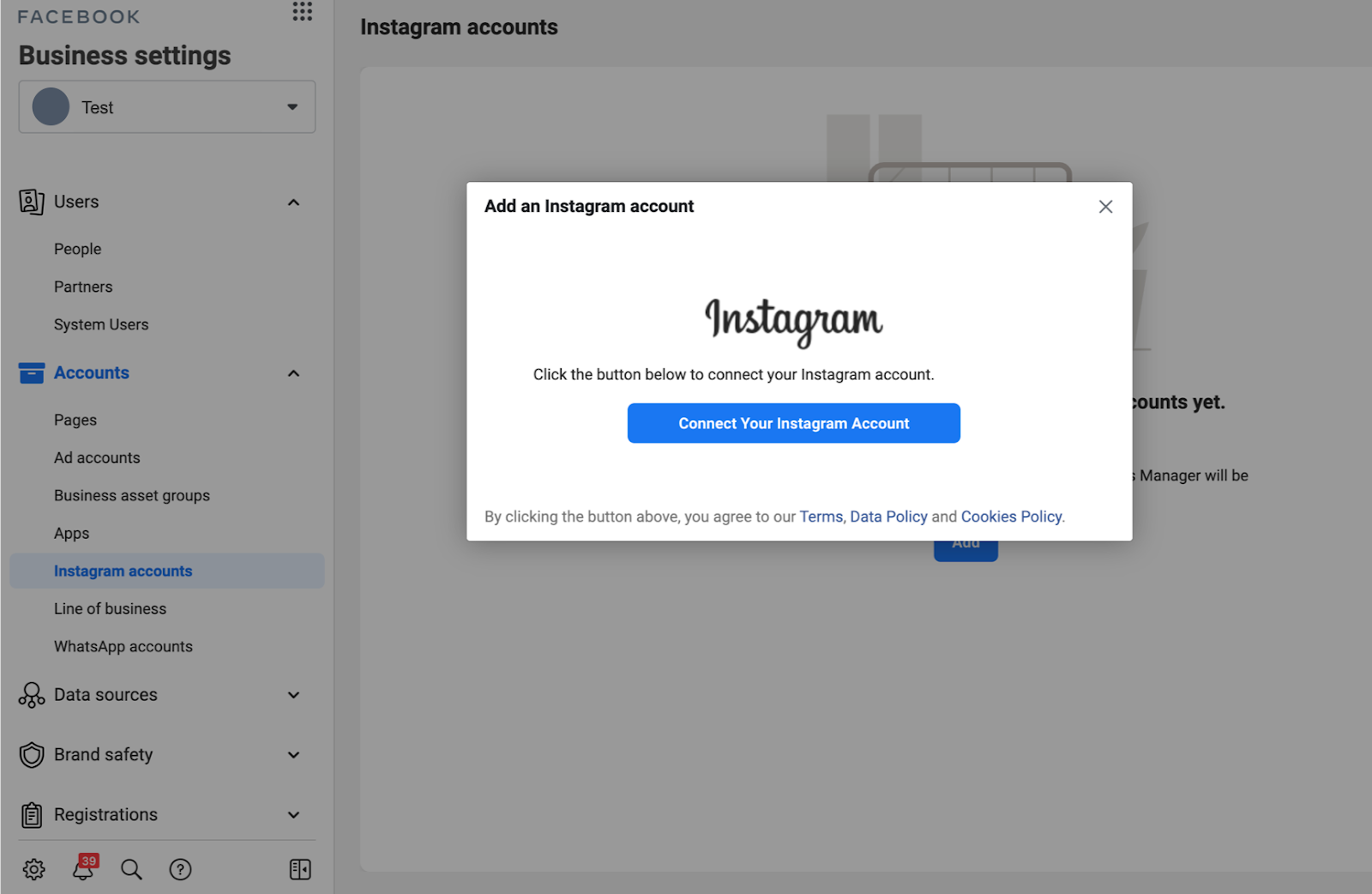 วิธีใส่บัญชี Instagram ใน Facebook Business Manager