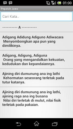 Pepatah Jawa