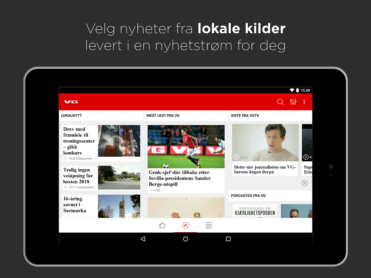 vg app til android stapon