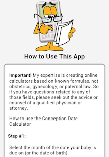 Conception Date Calculator- screenshot thumbnail