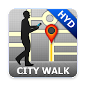 Hyderabad Map and Walks icon