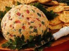 Port Wine Cheese Ball W/pimentos And Green Onions