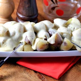 Truffle Cheese Fondue Little Potatoes.
