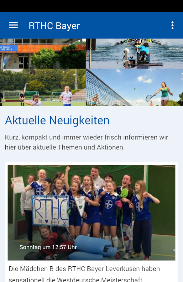 RTHC Bayer Leverkusen e.V.- screenshot