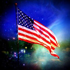 -------Heavenly Flag-------- by Neal Hatcher - Digital Art Things