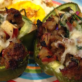 Paleo Sausage and Apple Stuffed Breakfast Bell Peppers