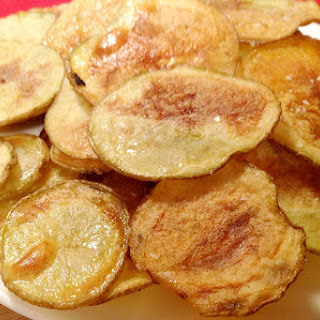 Homemade Baked Potato Chips [Vegan, Gluten-Free].