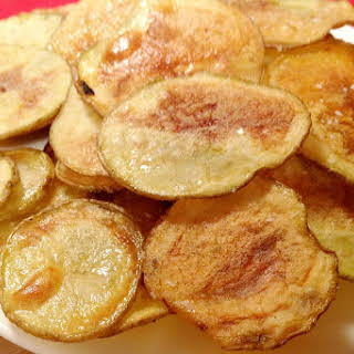 Homemade Baked Potato Chips [Vegan, Gluten-Free].