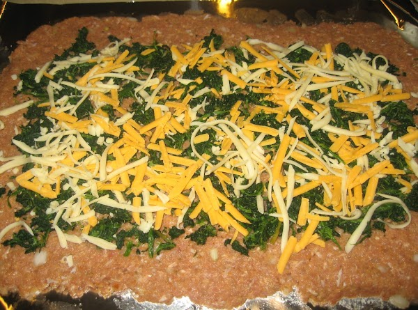 Orange spinach on turkey mixture to within 1/2 inch of the edges; sprinkle with...