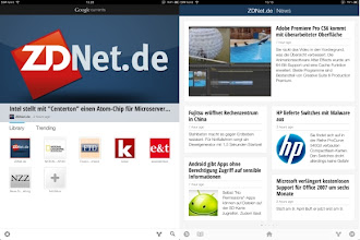 Photo: Google Currents: Home Screen und ZDNet.de-News